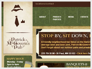 Patrick McGovern's Website Front Page